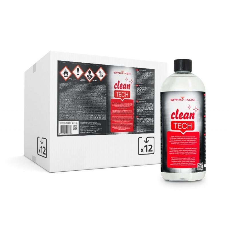SPRAY-KON CLEAN TECH– specjalistyczny zmywacz 1L - 1 pudełko - 12 butelek