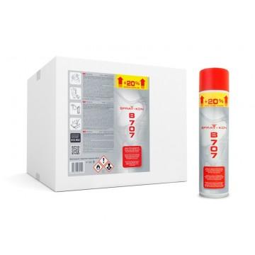 SPRAY-KON B707 600ML - Klej kontaktowy w sprayu - 1 pudełko - 12 aerozoli - PL