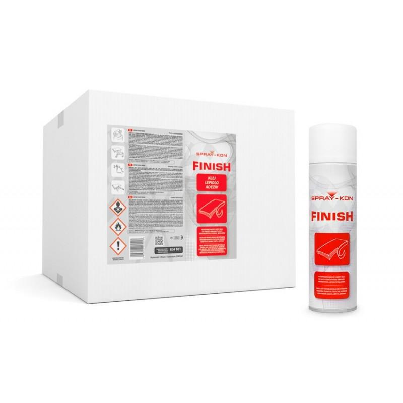 SPRAY-KON FINISH 500ML - Klej kontaktowy w sprayu - 1 pudełko - 12 areozoli
